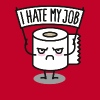 I hate my job - Toilet paper pixel - Men's Premium T-Shirt