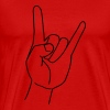 Heavy metal hand sign md - Men's Premium T-Shirt