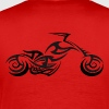 Tribal Tattoo Style Motorcycle - Men's Premium T-Shirt