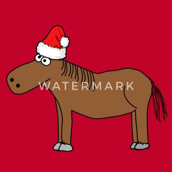 Frohe Weihnachten Pferd.Weihnachten Frohe Weihnachten Pferd Pony Reiten Männer Premium T Shirt Rot