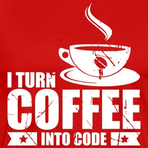 I Turn Coffee into code - Männer Premium T-Shirt