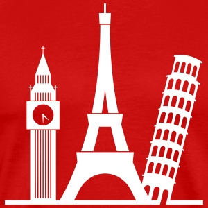 Europe / Londres, Paris, Pise - T-shirt Premium Homme