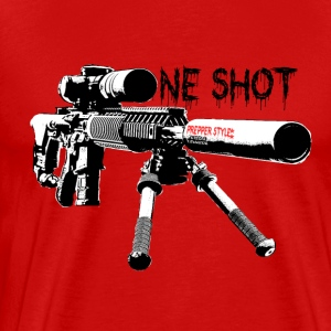 Prepper One Shot New Style - Premium T-skjorte for menn