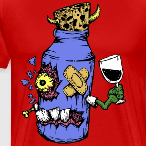 Zombie wine - Men's Premium T-Shirt