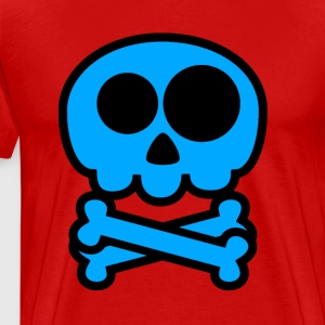 Blue Skull. Babybodys and T-shirt for Kleinki - Men's Premium T-Shirt