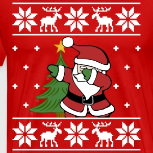 Ugly Christmas Sweater Santa Dab - Men's Premium T-Shirt