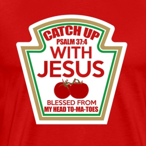 Catch up met Jezus - Mannen Premium T-shirt