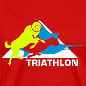 Triathlon - Animal Power - Herre premium T-shirt