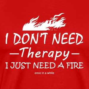 therapy firefighter - Mannen Premium T-shirt