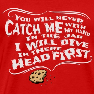 Cookie biscuit head in the biscuit cool gift - Men's Premium T-Shirt