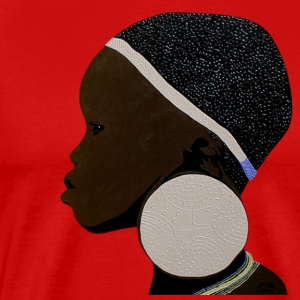 african mursi girl 1 - Men's Premium T-Shirt