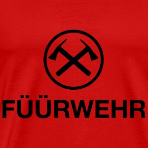 Füürwehr | Fire Department | Platt German | nordtyska - Premium-T-shirt herr