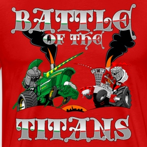 Battle of the Titans - Miesten premium t-paita
