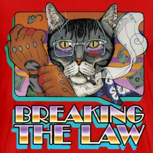 Kriminalitet CAT Breaking the Law - Herre premium T-shirt