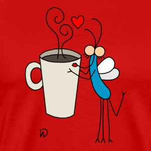 Djen Wana loves coffee - Mannen Premium T-shirt