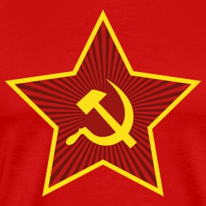 Flag Communist Star Hammer and Sickle - Men's Premium T-Shirt