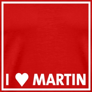 I heart Martin white - Men's Premium T-Shirt