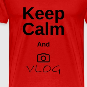 Keep calm and vlog - Men's Premium T-Shirt