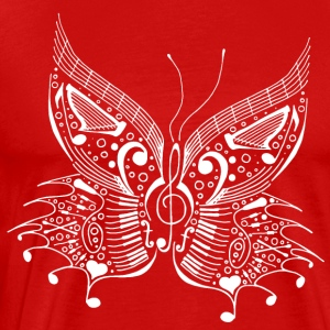 music butterfly white - Men's Premium T-Shirt