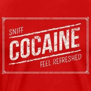 Sniff Cocaine feel refreshed weiss - Männer Premium T-Shirt