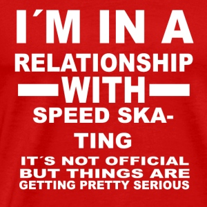 relationship with SPEED SKATING - Männer Premium T-Shirt