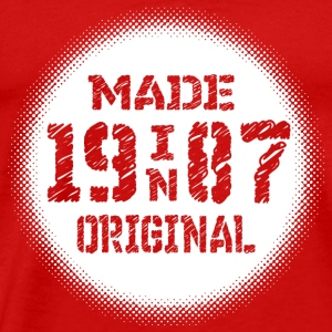 made in original 1987 birth year of construction - Men's Premium T-Shirt