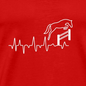 Horse riding heartbeat gift - Men's Premium T-Shirt