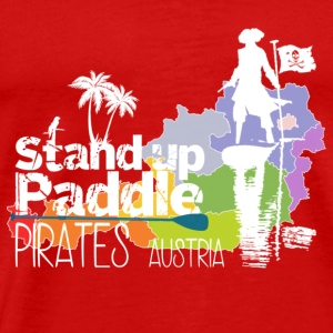 Stand Up Paddle Pirates wit - Mannen Premium T-shirt