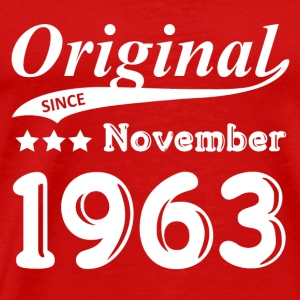 Original Sinds november 1963 Gift - Mannen Premium T-shirt