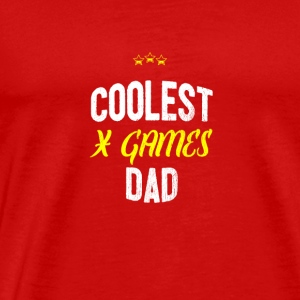 Distressed - COOLEST X GAMES DAD - T-shirt Premium Homme