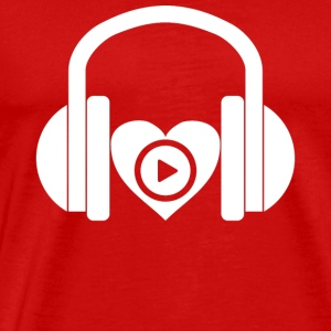 DJ music headphones heart design gift - Men's Premium T-Shirt
