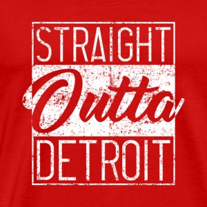 Straight Outta Detroit Distressed - Mannen Premium T-shirt