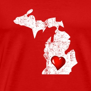 Proud to be From Michigan Distressed - Männer Premium T-Shirt