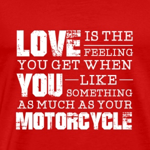 Love You Motorcycle - Mannen Premium T-shirt