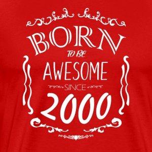 Born to be Awesome since 2000 - Men's Premium T-Shirt