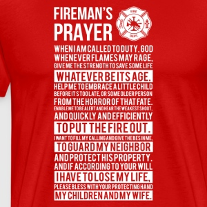 Firefighter pray gift - Männer Premium T-Shirt