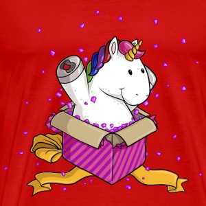 Surprise Unicorn Comic - Premium T-skjorte for menn