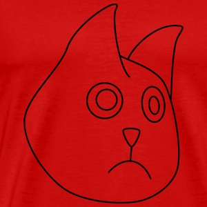 unhappy cat / angry cat - Men's Premium T-Shirt