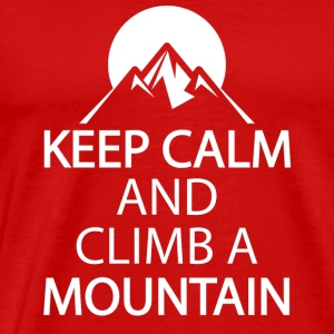 Keep calm and climb a mountain - Men's Premium T-Shirt