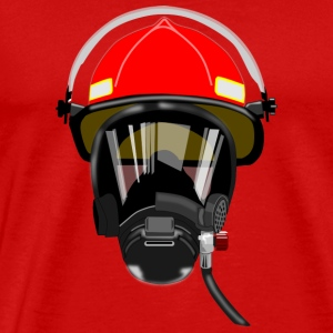 Fire helmet man - Men's Premium T-Shirt