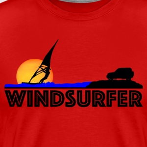 Windsurfer at Sunset - Men's Premium T-Shirt