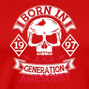 1 born in 97 - Männer Premium T-Shirt