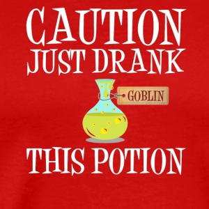 Attention! potion gobelin Troll Halloween Costume - T-shirt Premium Homme