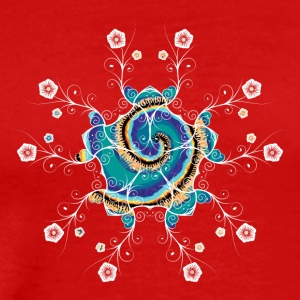 Flower Spiral - Premium T-skjorte for menn
