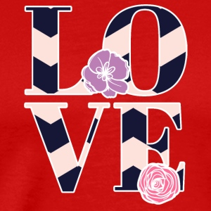 LOVE - Love är super cool! - Premium-T-shirt herr