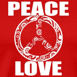 Peace Love T-skjorte Peace and Love Peace Sign - Premium T-skjorte for menn