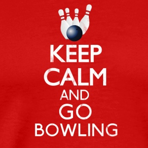 Keep calm and go bowling - Männer Premium T-Shirt