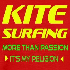 KITESURFING MORE THAN PASSION - ITS MY RELIGION - Men's Premium T-Shirt