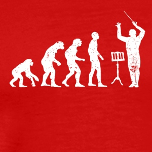 Evolution of the conductor Musician choir - Men's Premium T-Shirt