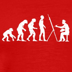 Evolution of painter painting - Men's Premium T-Shirt